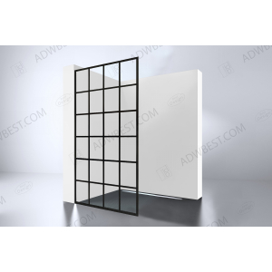 Best-Design 'Black 900 screen' inloopdouche Walk-In  900x2000x10mm