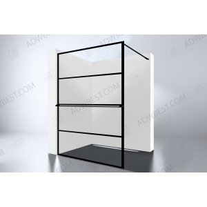 Best-Design 'Noire 1400 screen'  inloopdouche Walk-In 1400x2000x10mm