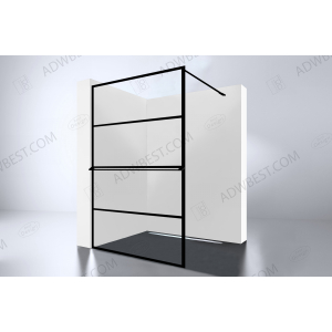 Best-Design 'Noire 1200 screen' inloopdouche Walk-In  1200x2000x10mm