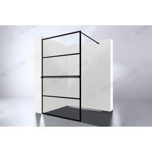 Best-Design 'Noire 1000 screen' inloopdouche Walk-In 1000x2000x10mm